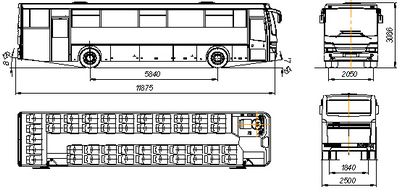 Междугородний автобус Нефаз Междугородний автобус Нефаз 5299-37-33